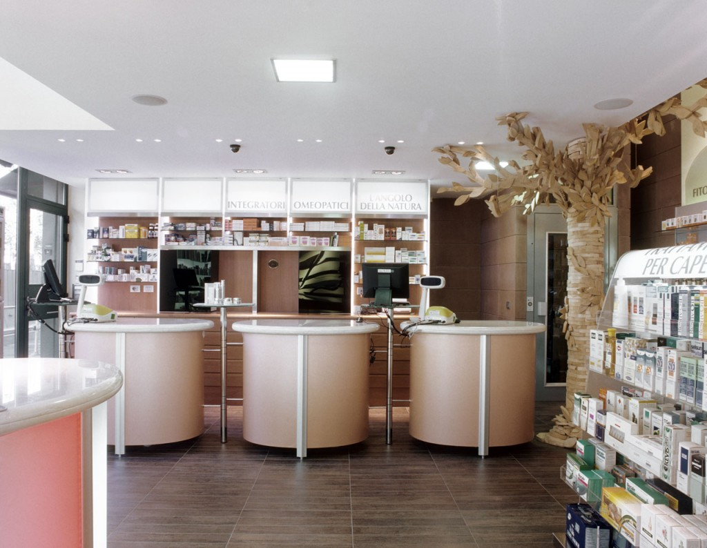 Milan pharmacy design - the pharmacy of Dr Filippo Bornino ...