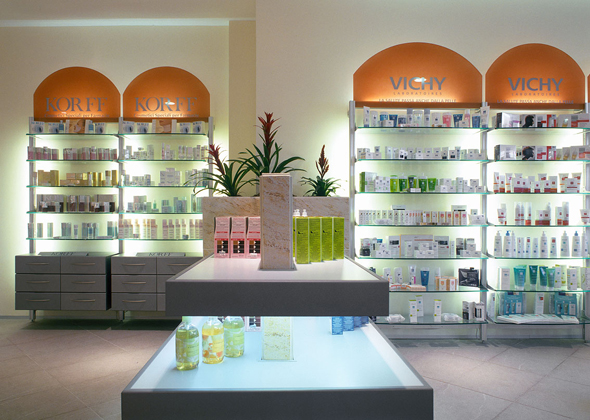 the pharmacy is bright and has a reassuring and stimulating atmosphere the working spaces are functional yet still contribute to the overall ambience - Pharmacy Design Ideas