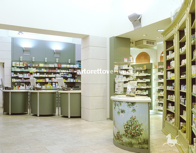Pharmacy interior design in Piedmont - Dr Malcotti and Sugliano's