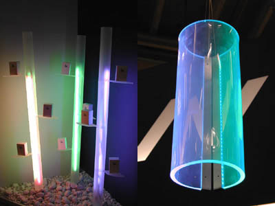 ®Ralboo and counter light fittings made out of Plexiglas