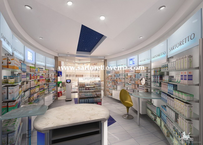 Pharmacy design Kuwait - Emirates | Pharmacy design Sartoretto Verna
