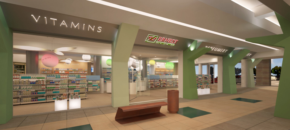 modern drug store design ideas with interior lighting 22 - Pharmacy Design Ideas