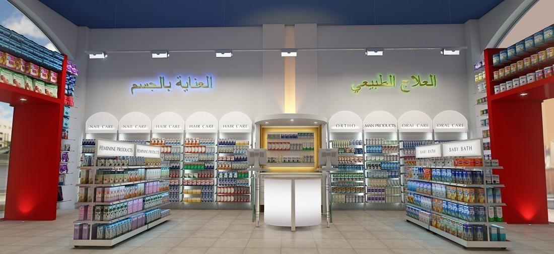 small pharmacy layout by sartoretto verna
