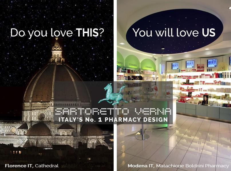 Sartoretto Verna Italy's No.1 pharmacy design