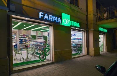 Pharmacy shop windows design
