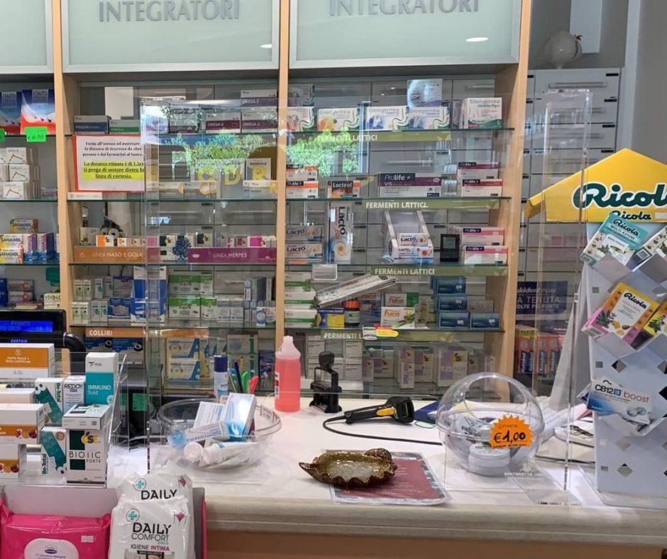 Transparent screen pharmacies