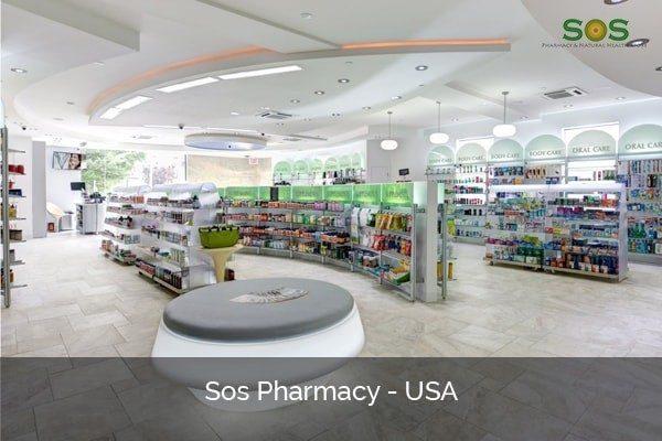 Pharmacy shelving system USA