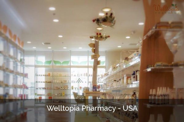 Pharmacy shelving system USA