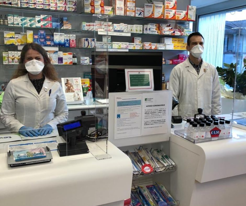 Plexiglas protection pharmacies
