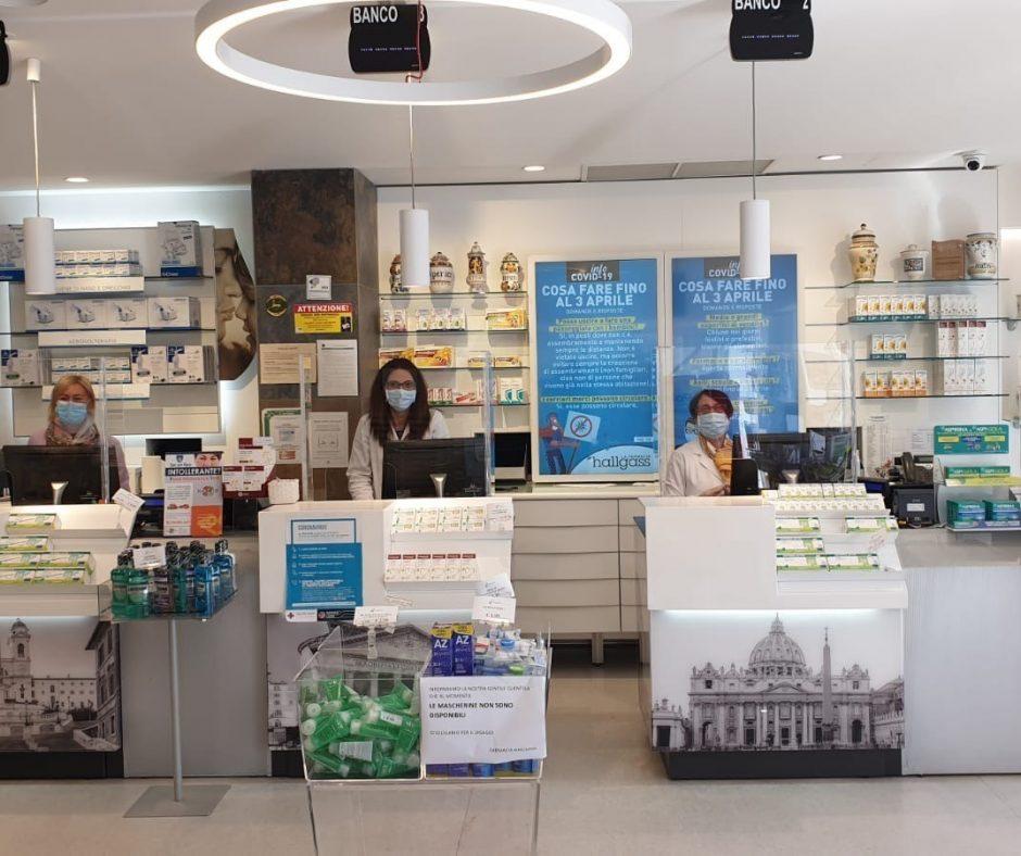 Plexiglas screen pharmacy